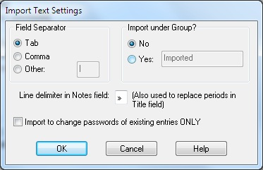 Importing Entries